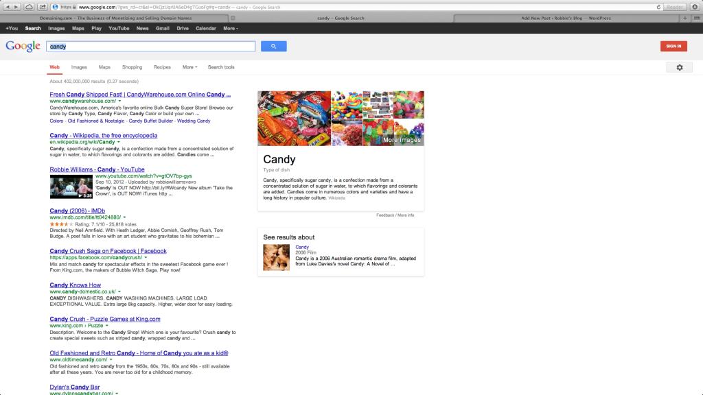 Candy.com Google.com