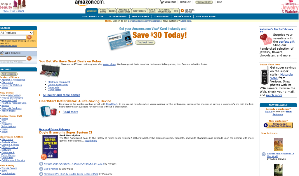 How Did Amazon.com look in 2005