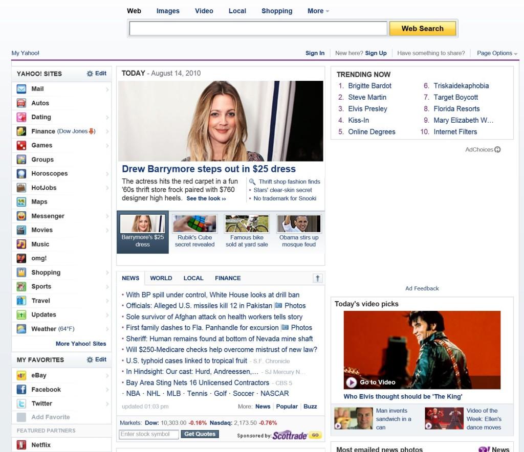 Yahoo 2010