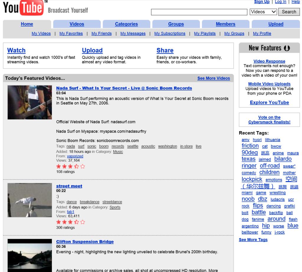 YouTube.com 2006