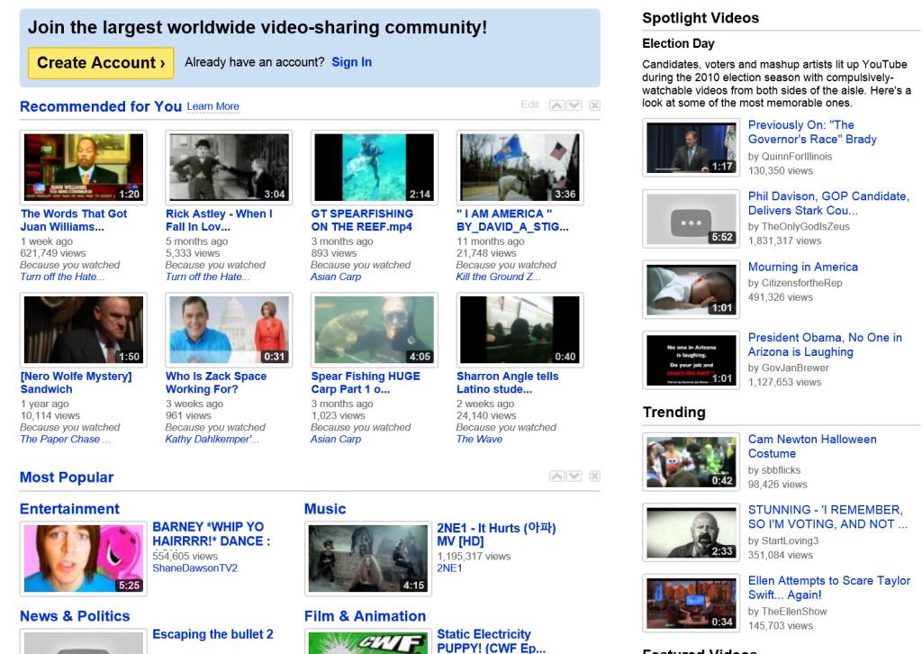 YouTube.com 2010