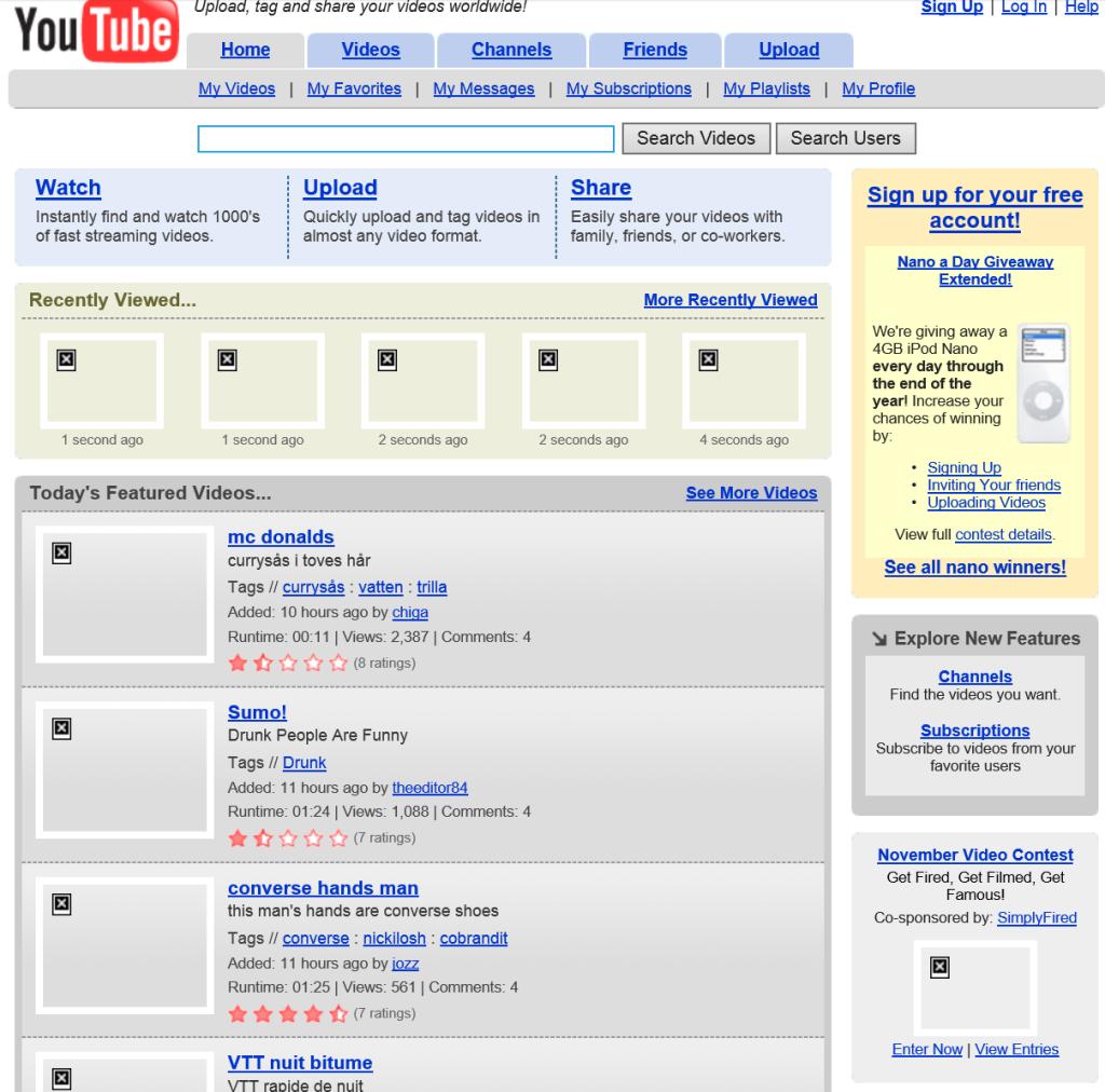 YouTube.com Dec 2005