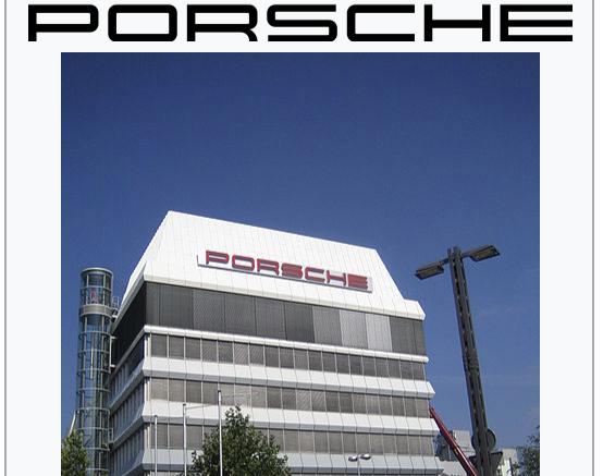 Porsche Website
