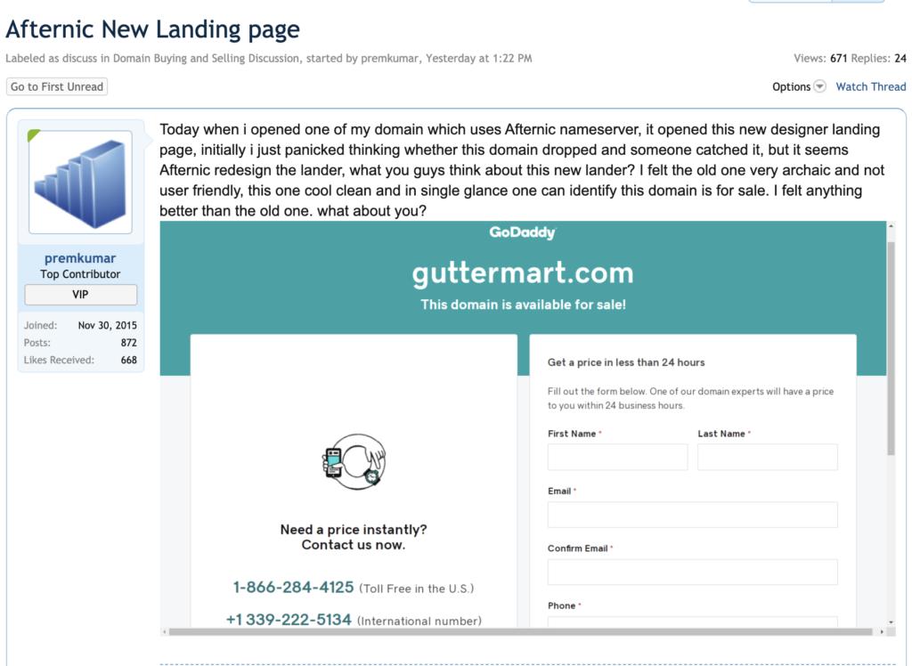 Afternic Websites