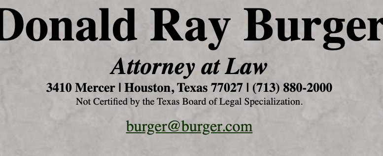 Burger.com Donald Ray Burger