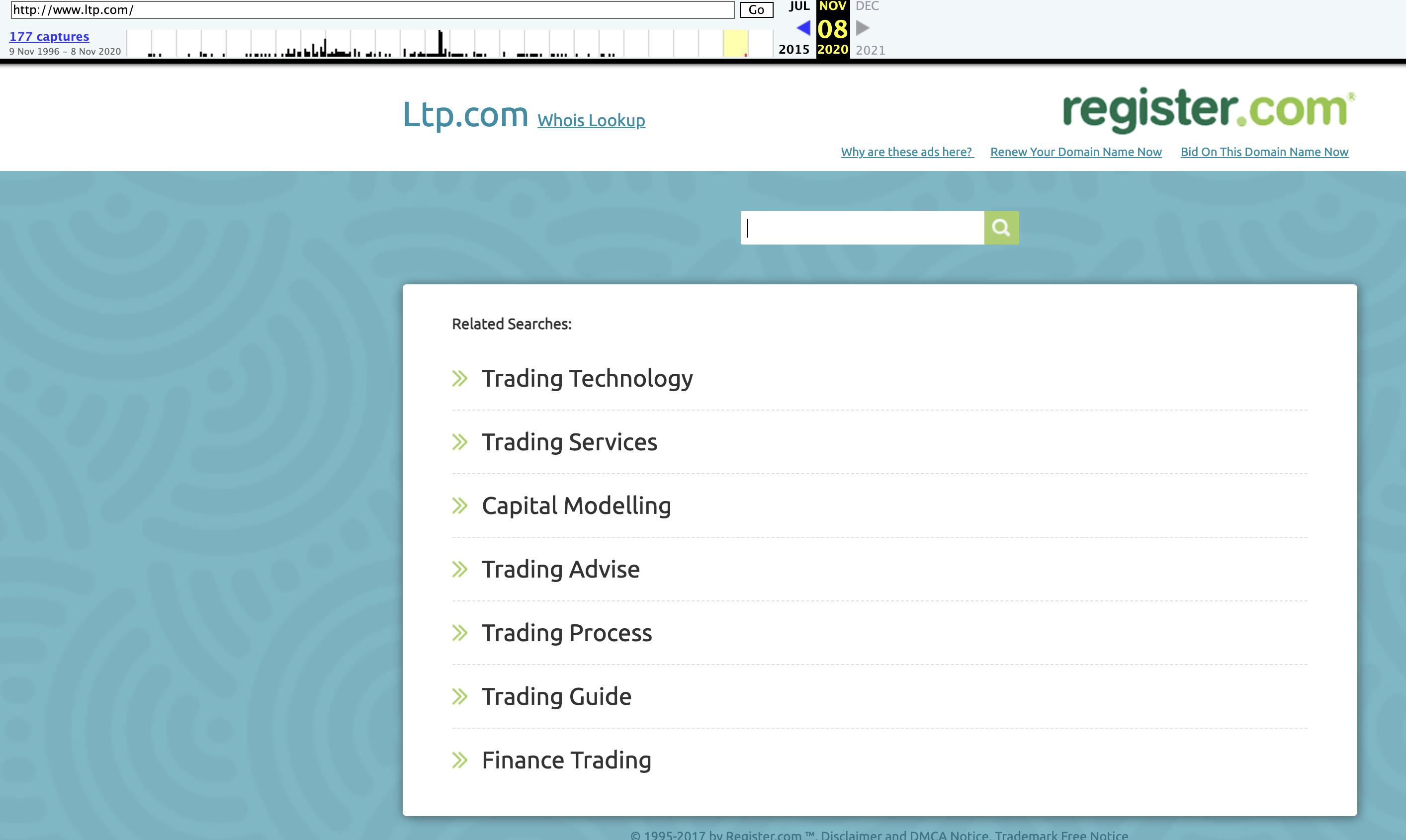 Register.com Parking Page - Trading