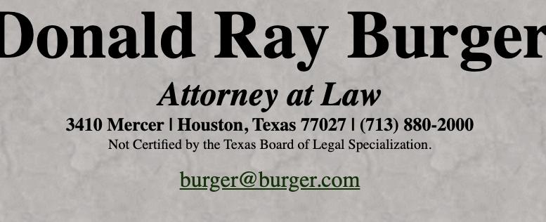 Burger.com Donald Ray Burger